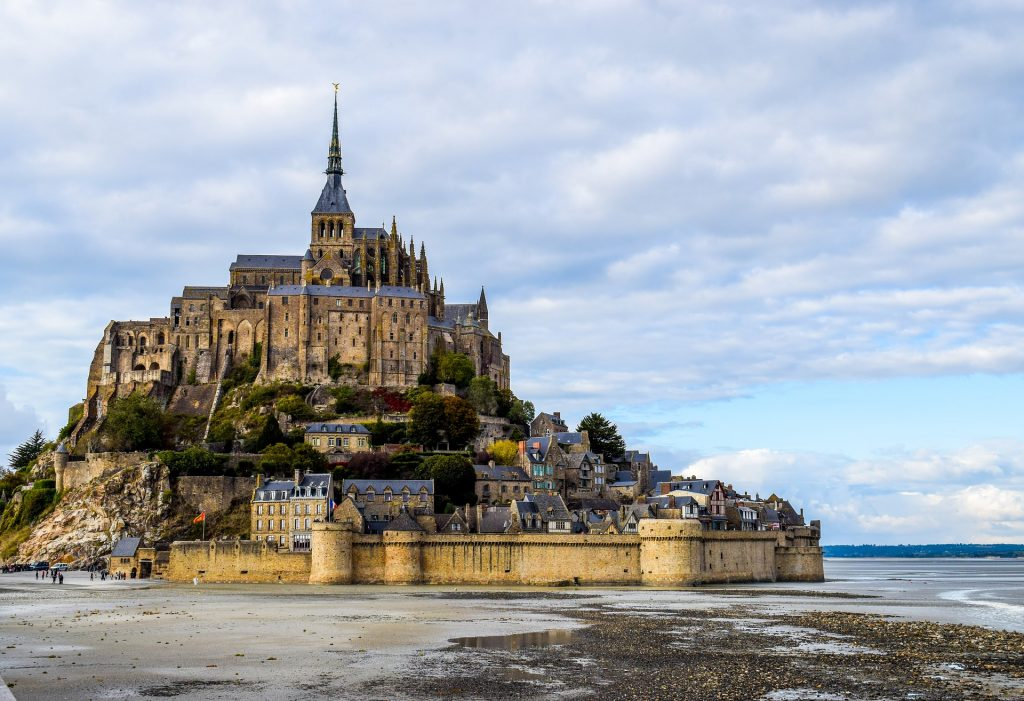 The stunning Mont Saint Michel in the Normany Region of France.