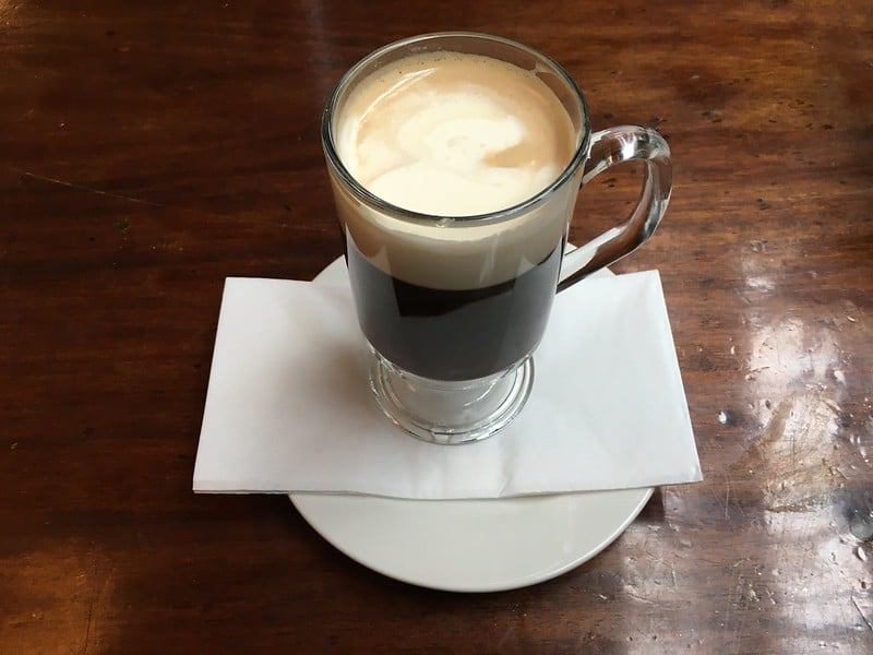 The world-famous Irish coffee is one of the best Irish alcoholic drinks.