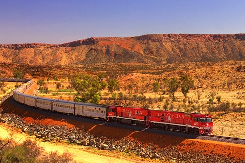 Getting a train through the Australian outback is a must for any Australian Bucket List.