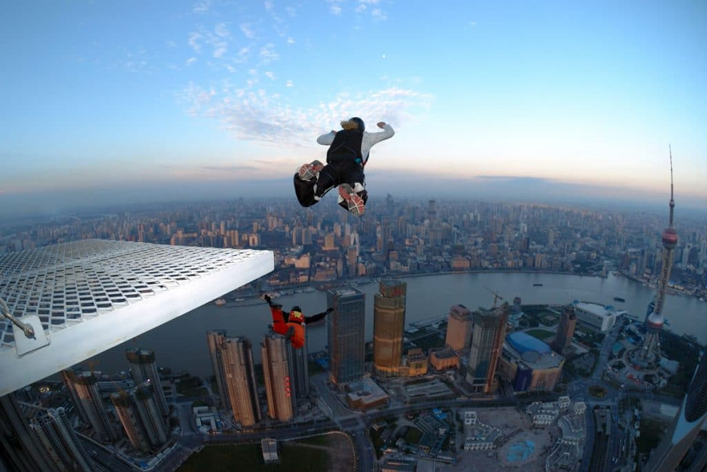 Base Jumping - the successor of parachuting.