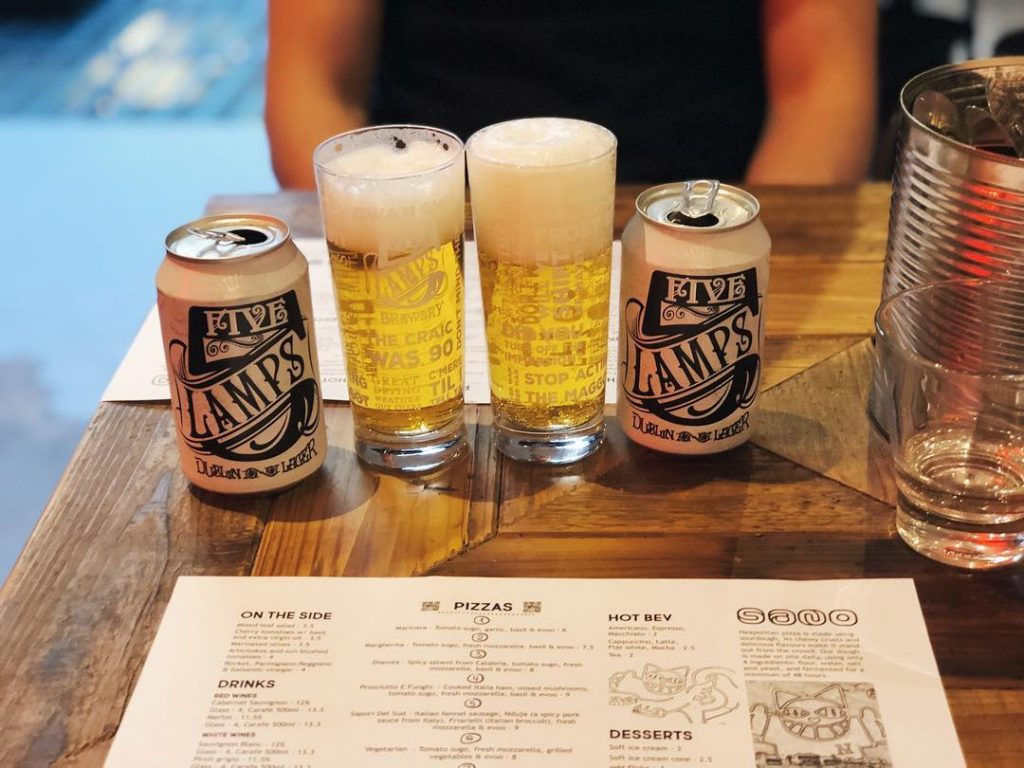 Five Lamps Lager – a budding Dublin brewery.