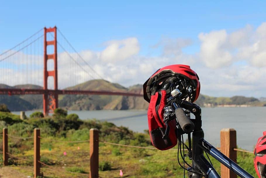 Cycle across the Golden Gate Bridge – for exercise and experience.