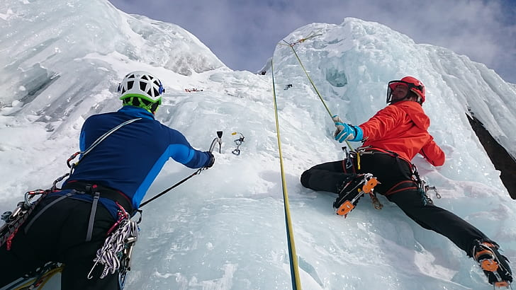 Ice climbing is a winter sport and is one of the most extreme sports in the world.