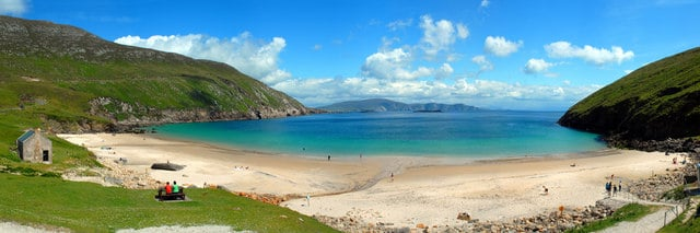 Keem Bay, the best beach in Ireland.