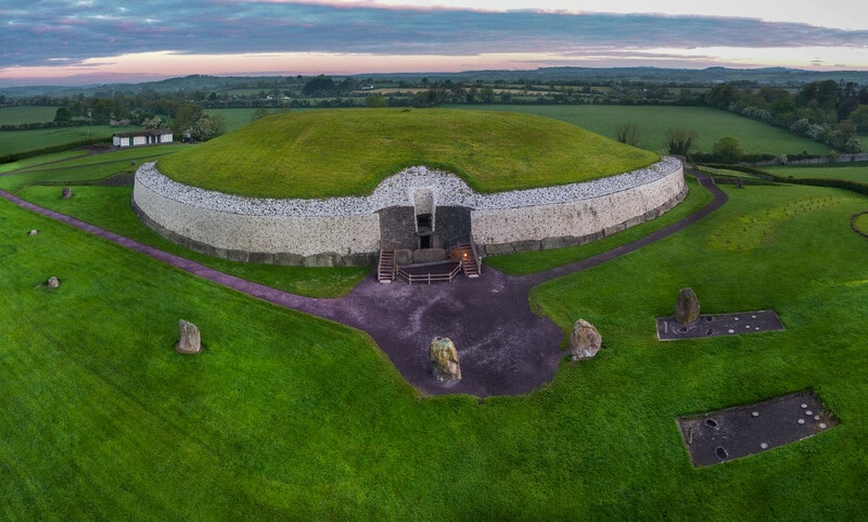 Newgrange Tomb, home to the Winter Solstice, one of the most important Celtic holidays.