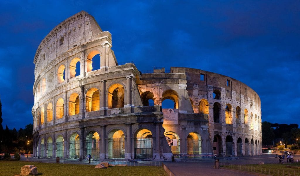 The Colosseum in Rome is one of the best bucket list ideas.