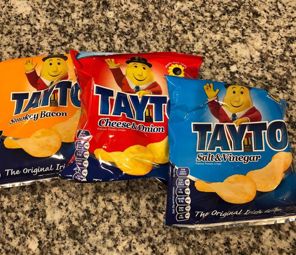 Tayto crisps – the Irish mascot.
