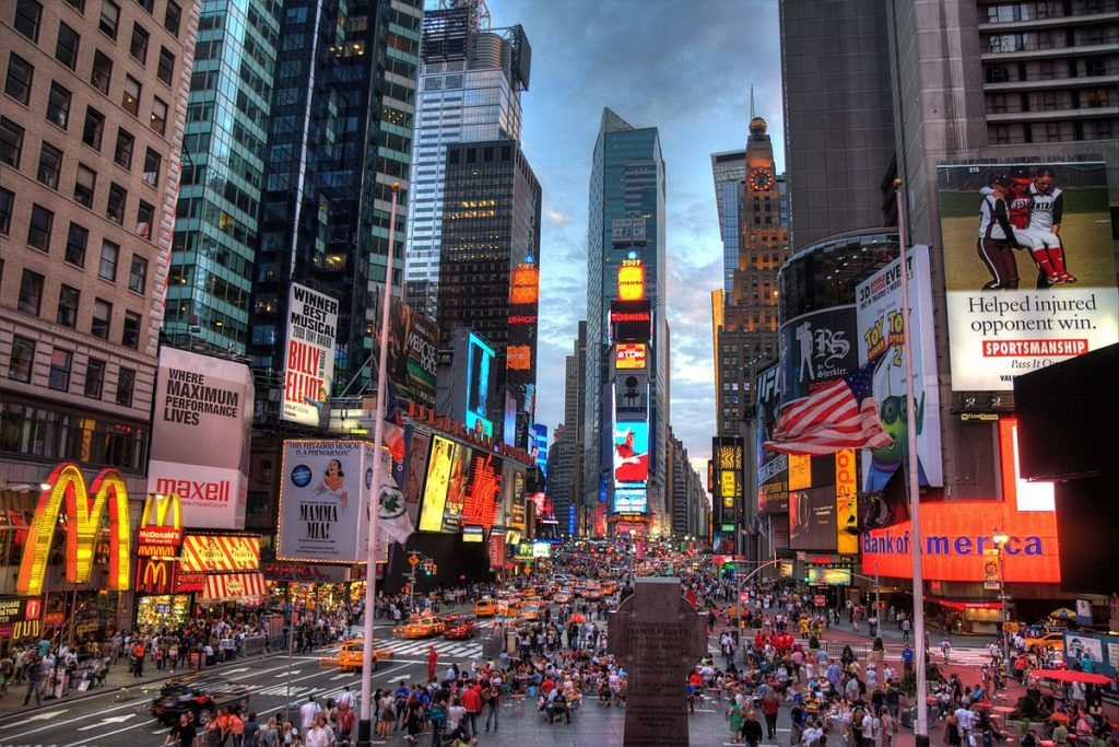 Visiting Times Square in NYC is one of the most incredible bucket list ideas.