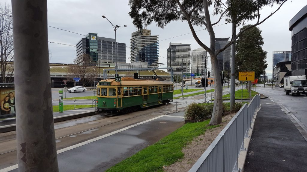 The City Circle Tram is a great way to see the city.