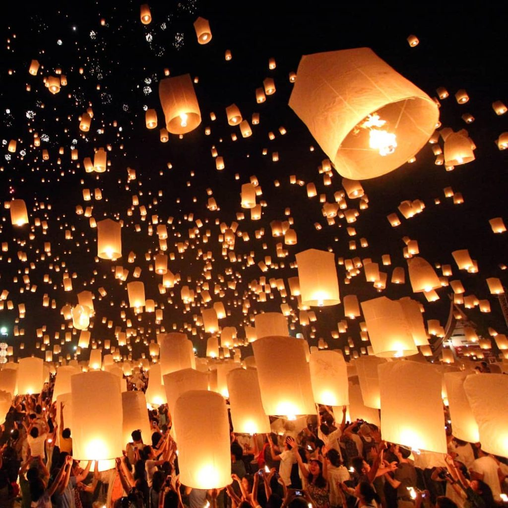 Another of the top festivals is the Yi Peng Lantern Festival.