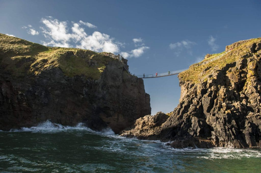 On our Irish adventure bucket list, be sure to swim under the rope bridge.