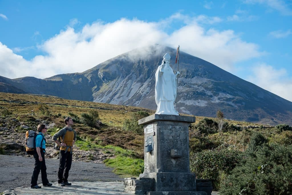 Pilgrimage up Croagh Patrick is an annual celebration.