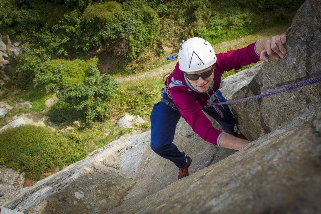 Why not try rock climbing in Dalkey Quarry?