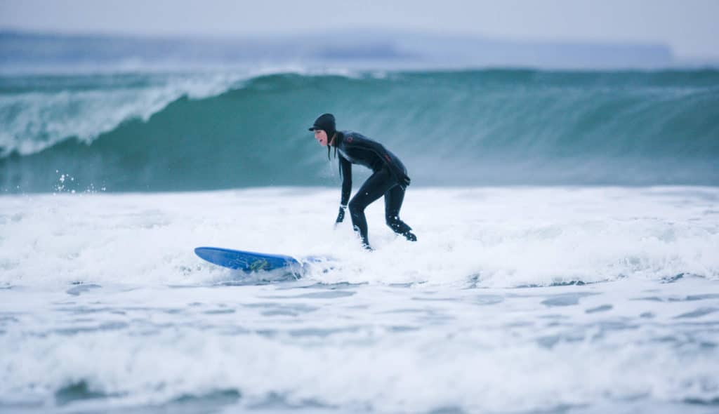 Grab big waves in Sligo with your surf-board.