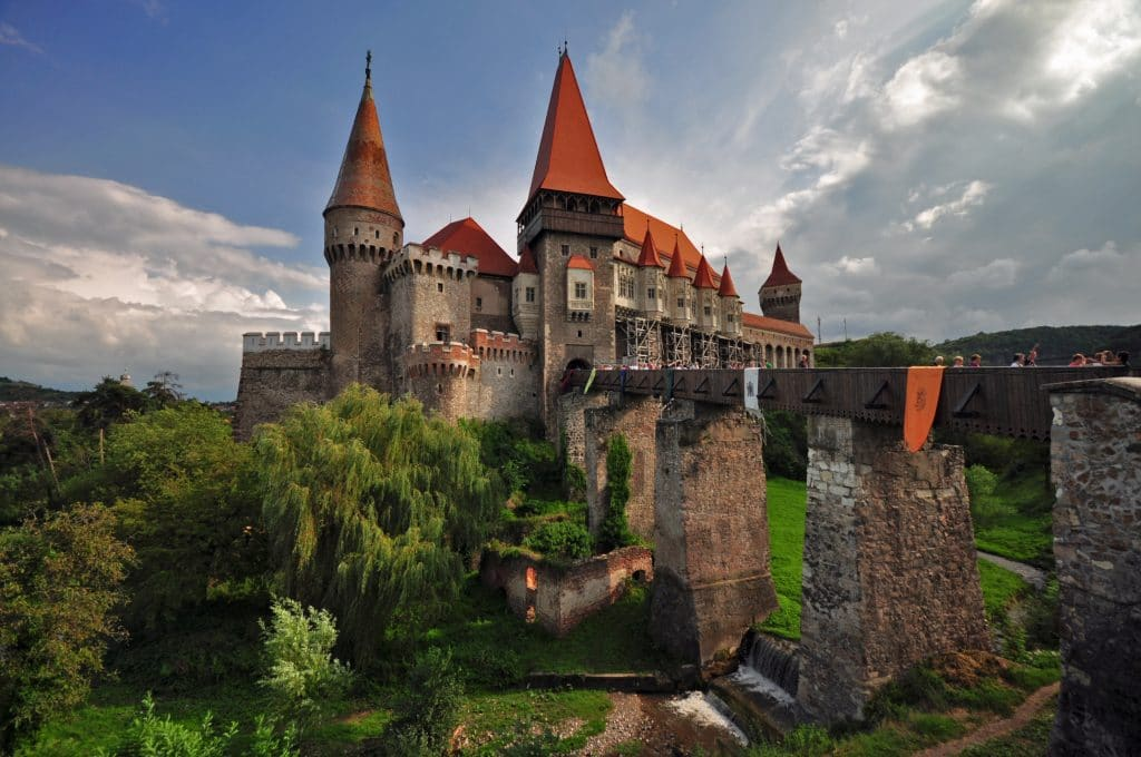 Corvin Castle in Romania is the home of Dracula.